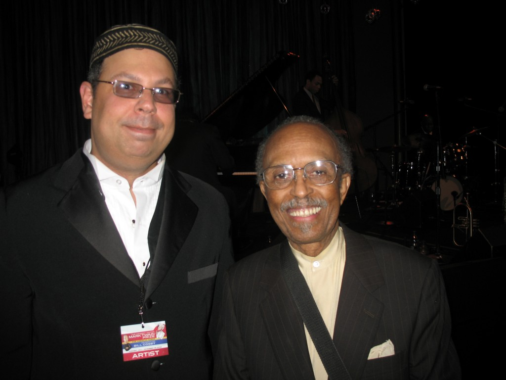 Isaac with Jimmy Heath 2009