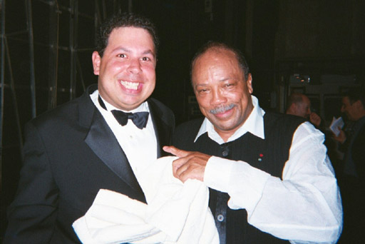 Isaac ben Ayala with Quincy Jones, Paris 2000
