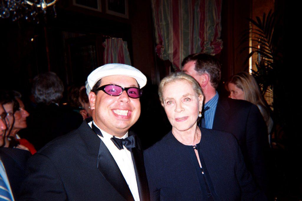 IbA with Lauren Bacall in Paris